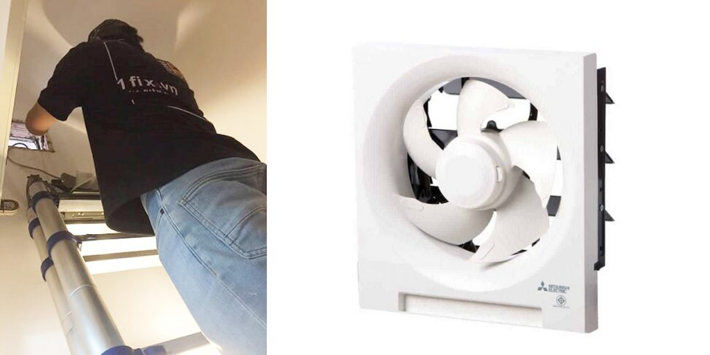 Thời gian lắp đặt quạt hút mùi nhà vệ sinh là bao lâu?