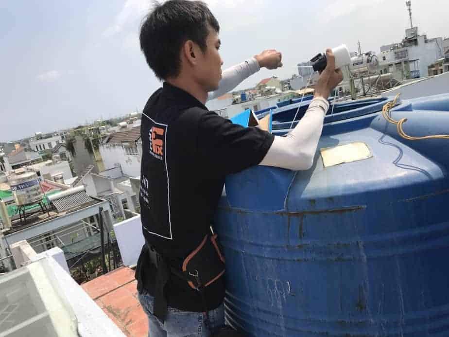 Hướng dẫn cách lắp đặt bồn nước trên cao