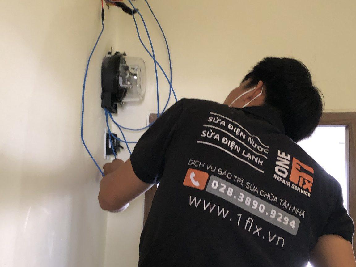 Thay dây điện âm tường tại nhà
